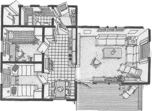 Wohnzimmer zeichnung raum und m beldesign inspiration - Grundriss wohnzimmer ...